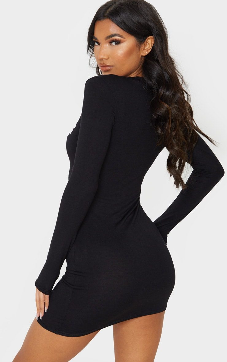 Black Santa Bae Oversized Bodycon Dress 2