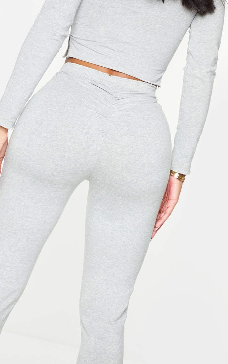 PRETTYLITTLETHING Shape Grey Split Hem Leggings 4