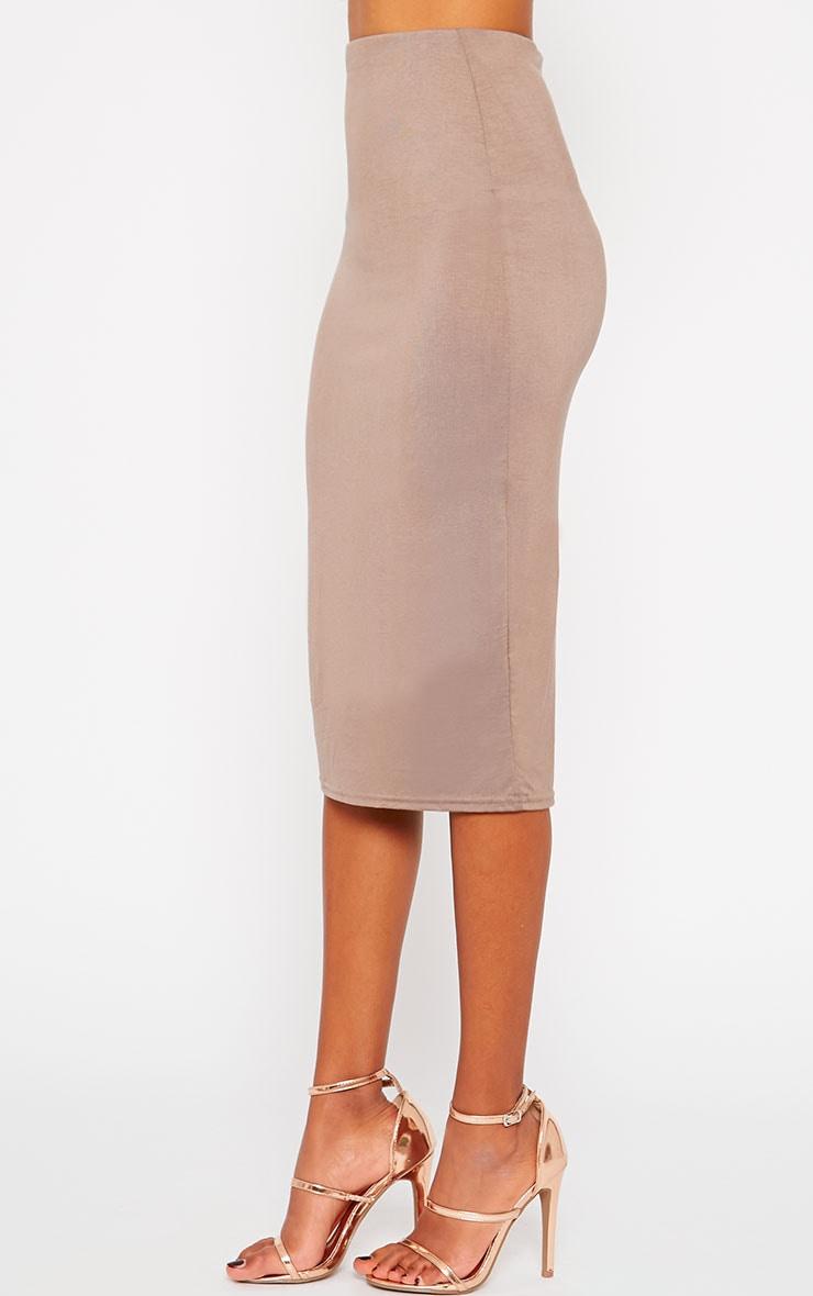 Basic Mocha Longline Midi Skirt 3