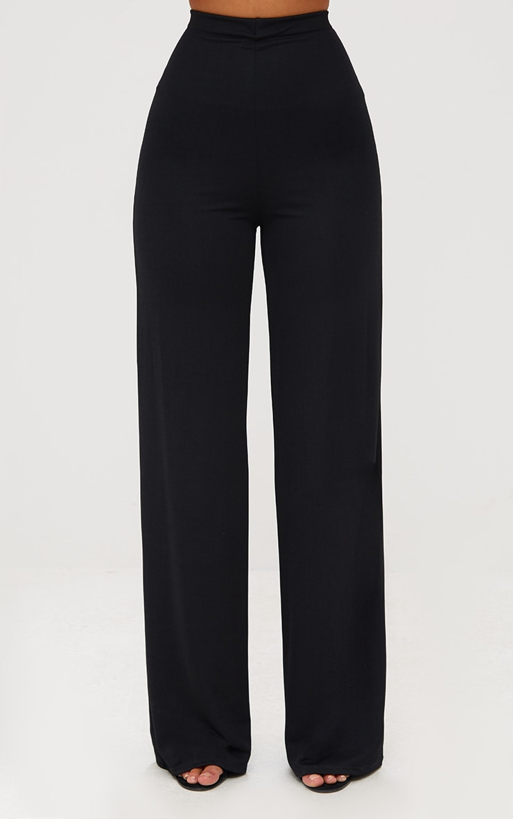 Black High Waisted Wide Leg Pants  3