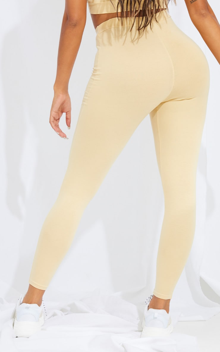 Shape Stone Cotton Seam Detail Leggings 3