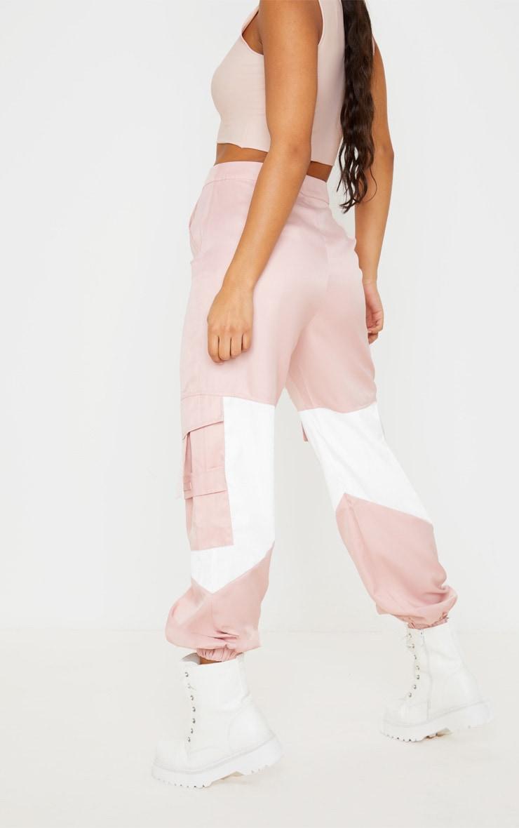 Pink Cargo Contrast Pocket Trouser 4