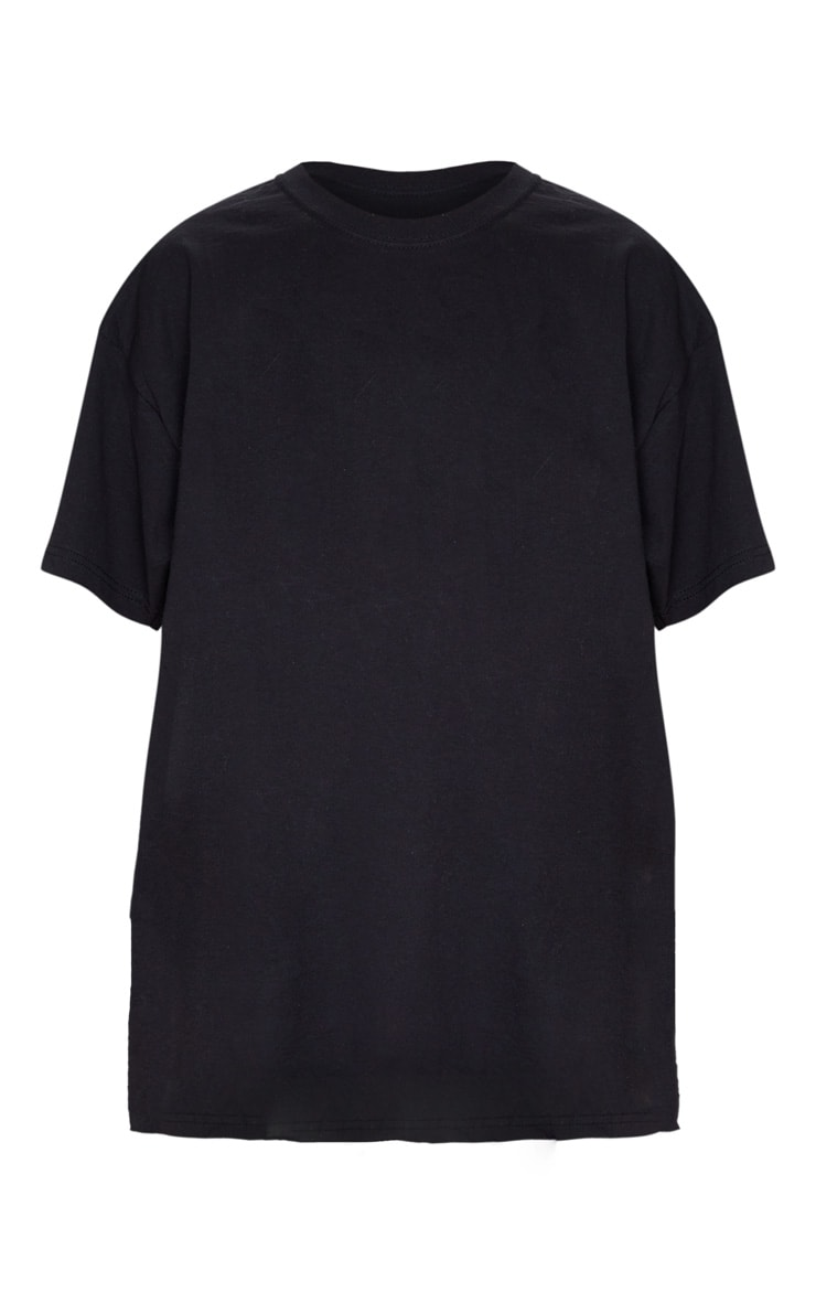 Black 1980 World Tour Slogan Oversized T Shirt 3