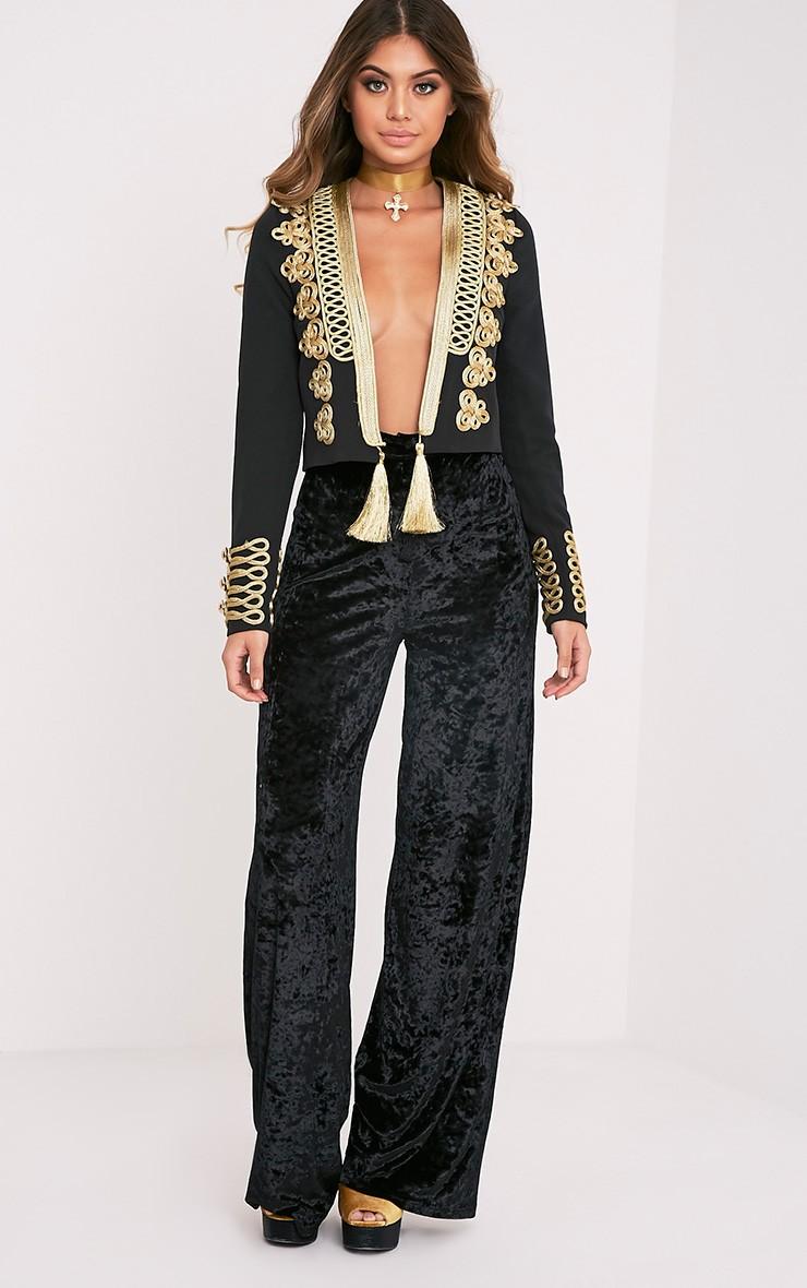 Cecilie Premium veste à ornements courte brodée noire 4