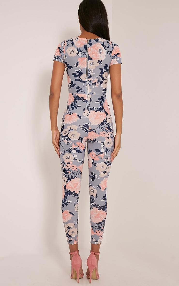 Rachel Blue Floral Printed Jumpsuit 2