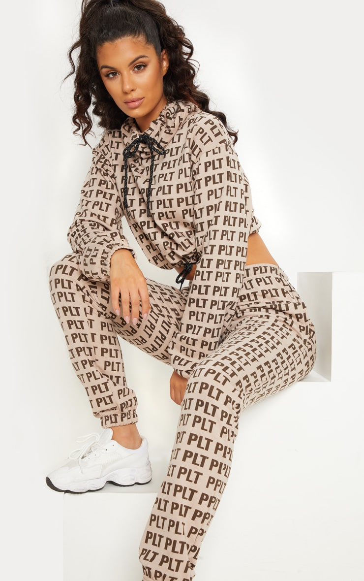 PRETTYLITTLETHING Stone Printed Funnel Neck Jumper 2
