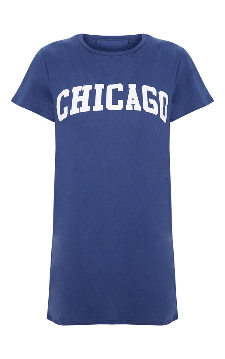 Chicago Navy Oversized T Shirt Dress 3
