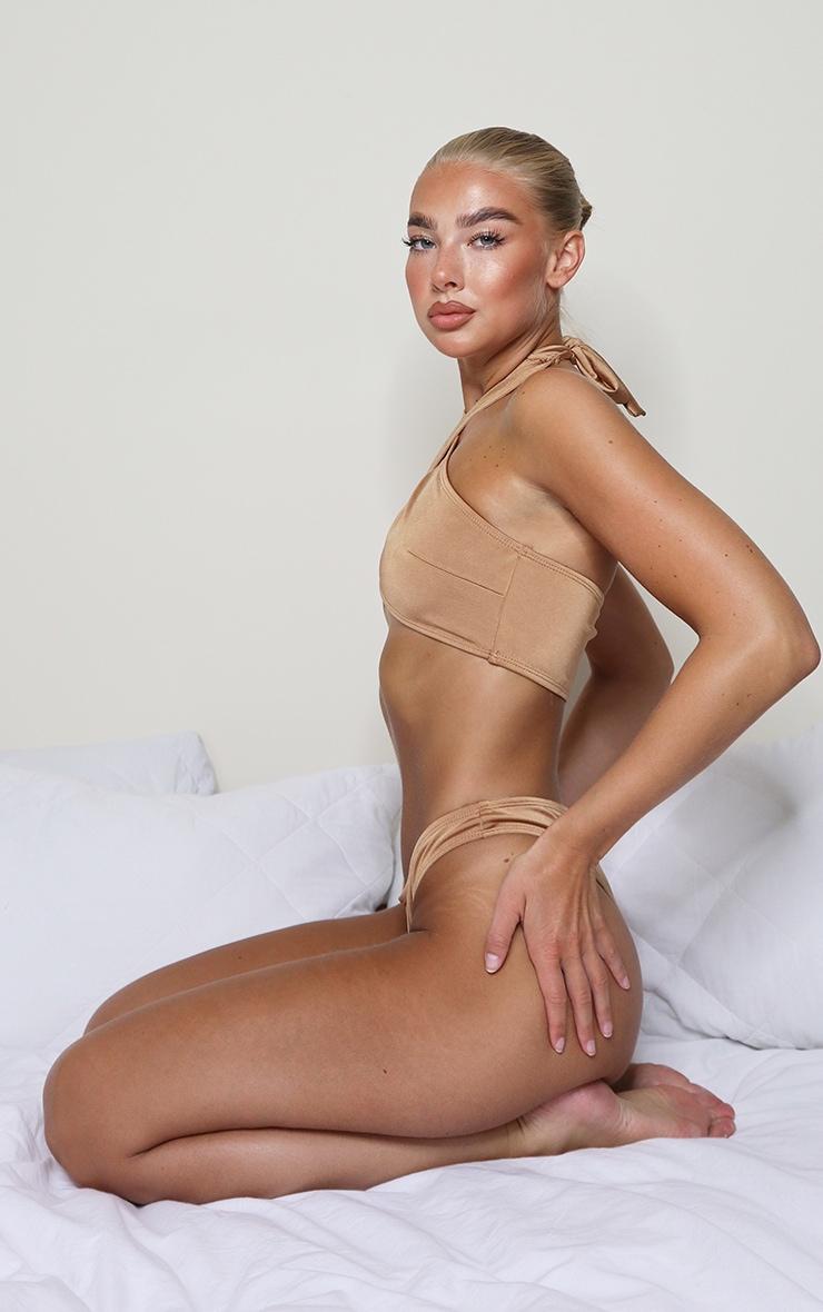 Mocha High Rise High Leg Bikini Bottoms 2