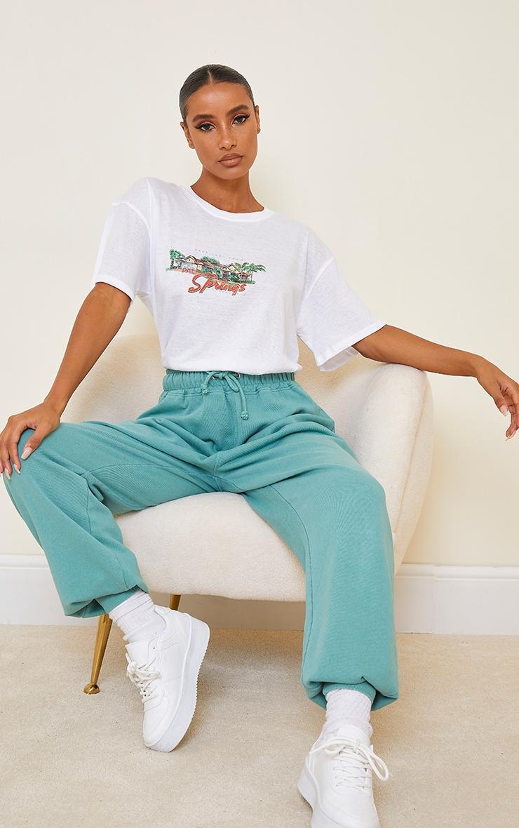 White Palm Springs Printed T Shirt 3