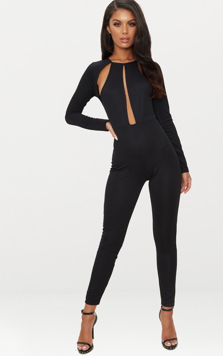 Black Cut Out Top Jumpsuit 1