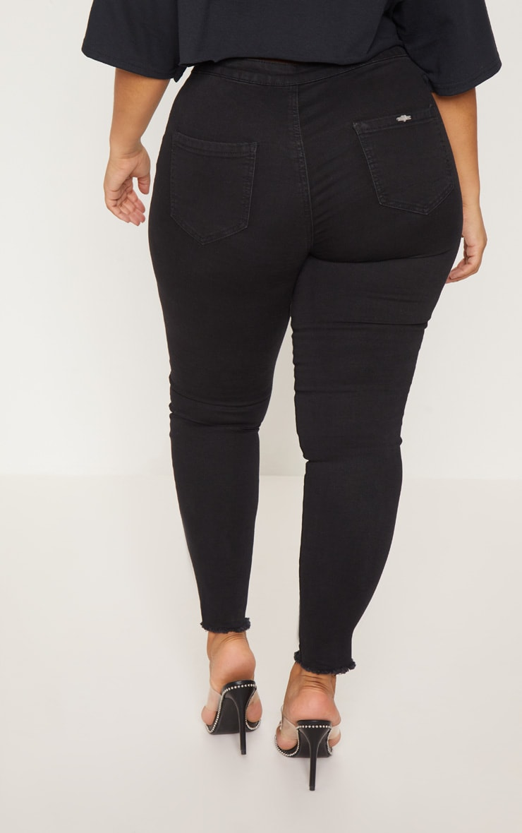 Plus Black Disco Skinny Jeans 5