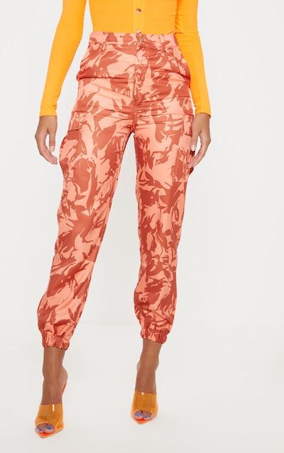 Orange Camo Pocket Detail Cargo Trouser