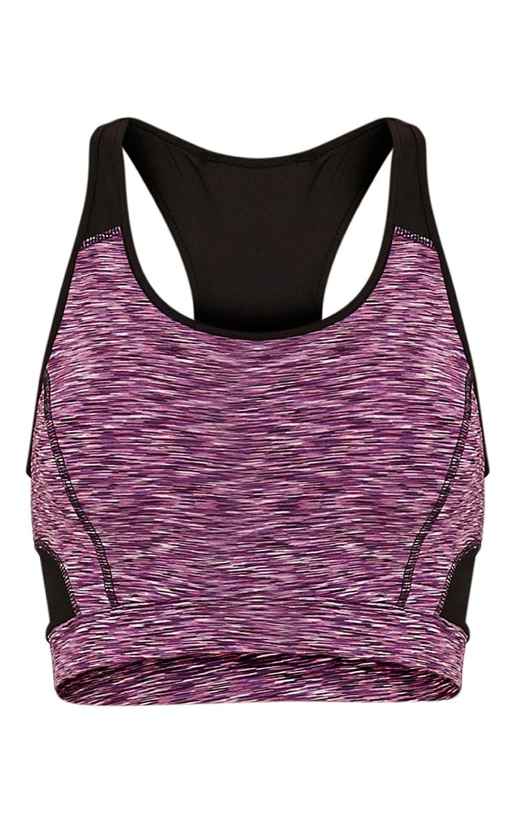 Maleah top court chiné violet 3