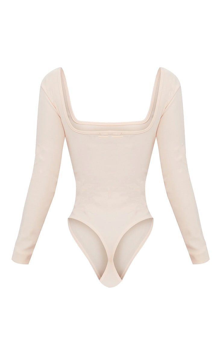 Shape Nude Ribbed Square Neck Bodysuit 4