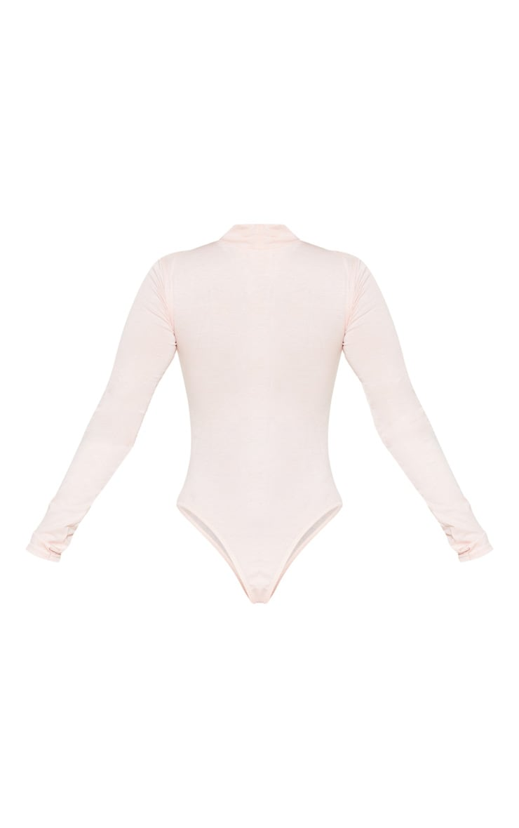 Petite Baby Pink Basic High Neck Bodysuit 4