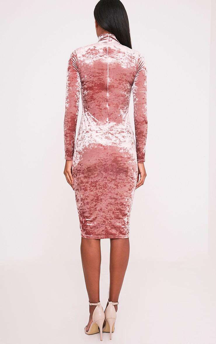 Amlia Rose Velvet High Neck Midi Dress 2