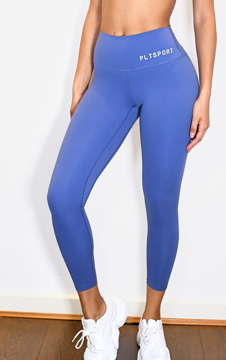 PRETTYLITTLETHING Blue Sculpt Luxe High Waist Gym Legging 4