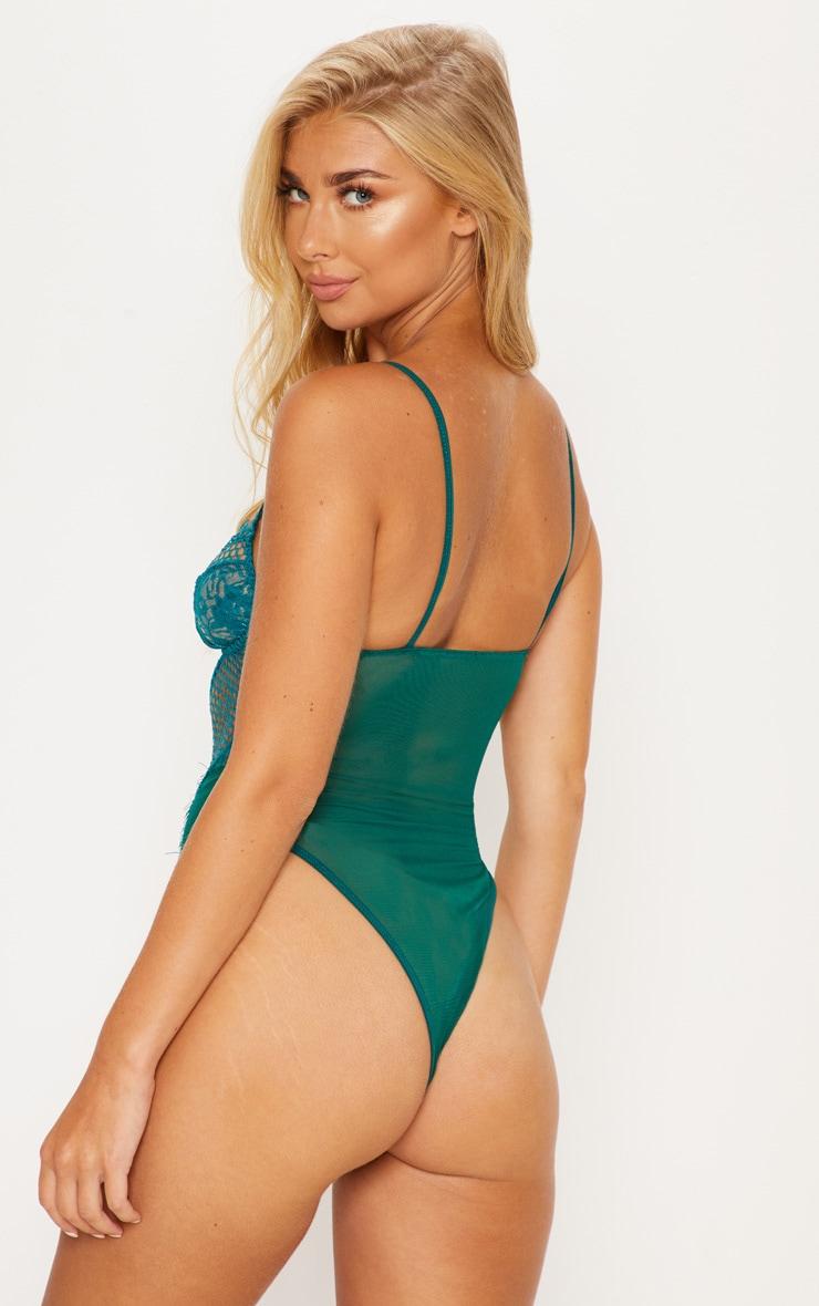 Emerald Eyelash Lace & Fishnet Body 2
