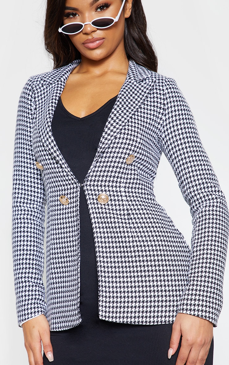 Black Houndstooth Blazer 6
