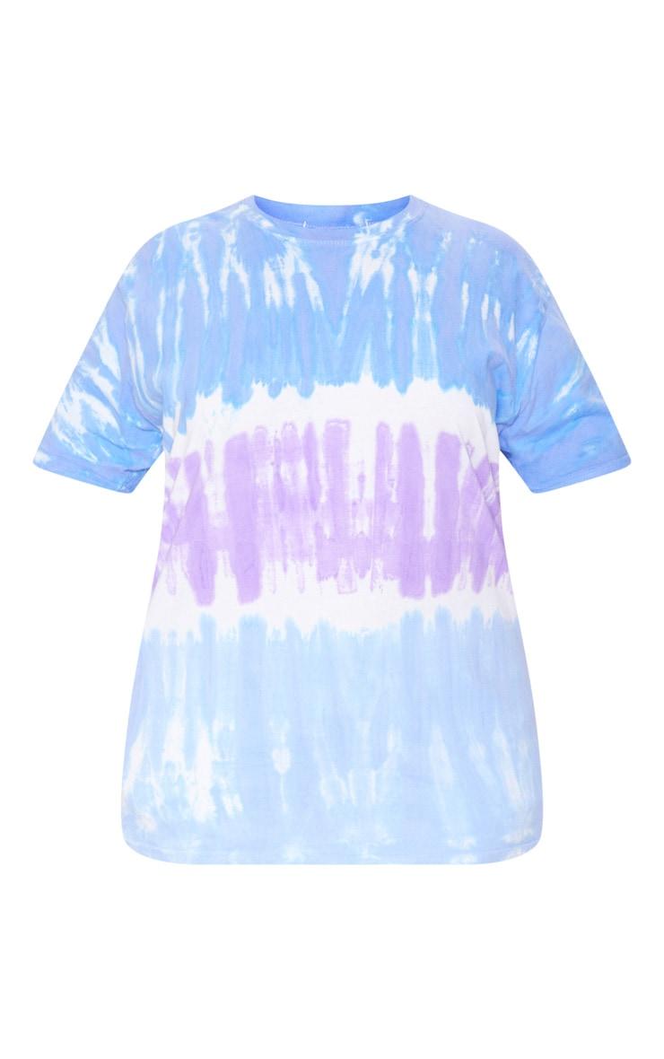 Plus Blue Tie Dye Oversized T-Shirt 3