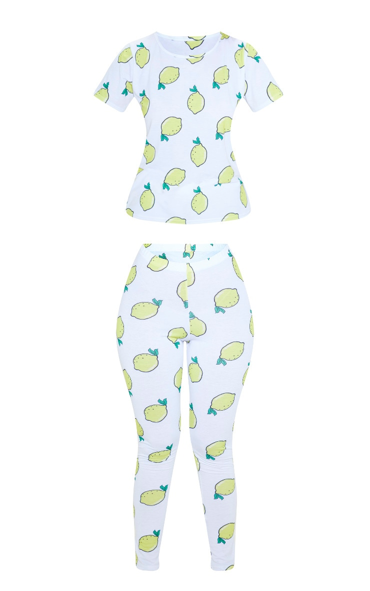White Lemon Squeeze Legging Pyjama Set 3