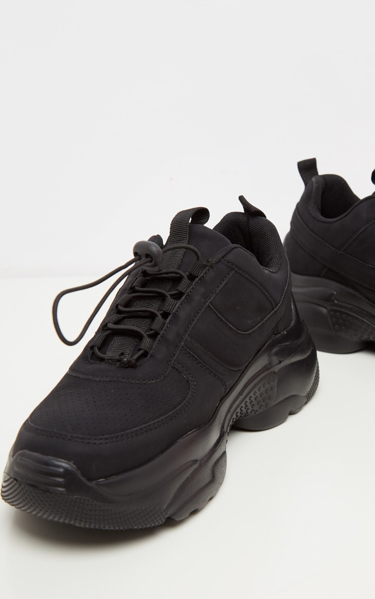Black High Arch Chunky Sole Sneaker 4