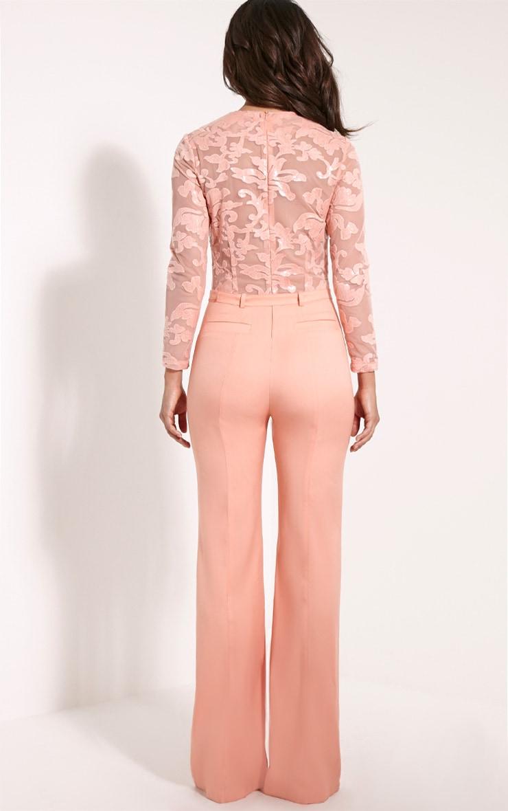 Lindie Peach Sequin Pattern Jumpsuit 2
