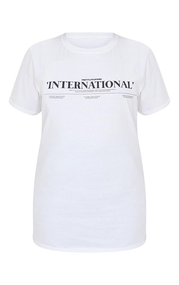 Petite White Oversized International T-Shirt 5