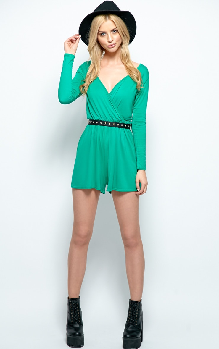 Maddison Green Wrap Over Playsuit  4