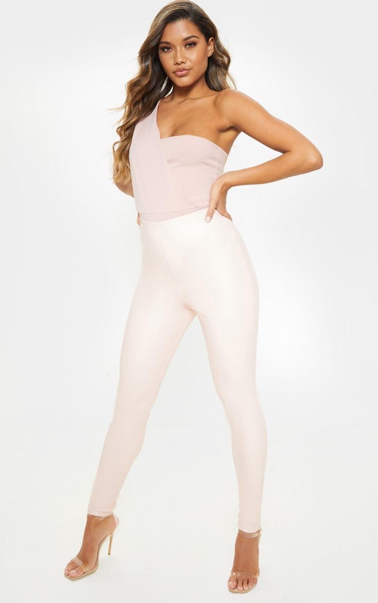 Dusty Pink One Shoulder Bodysuit 3