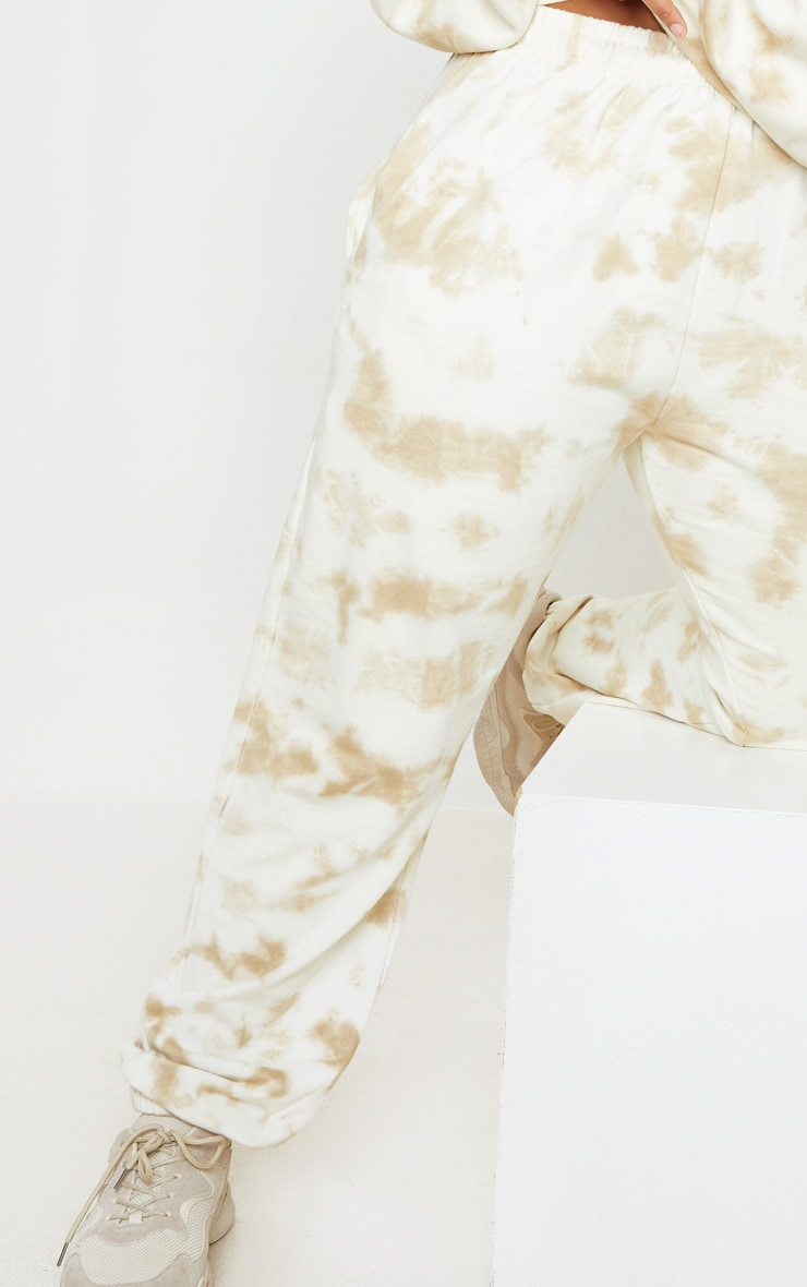 Plus Cream Tie Dye Jogger 4