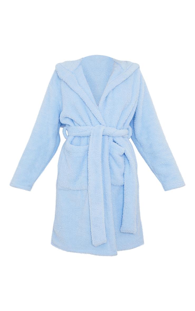 Baby Blue Sleepy Slogan Fluffy Dressing Gown 5