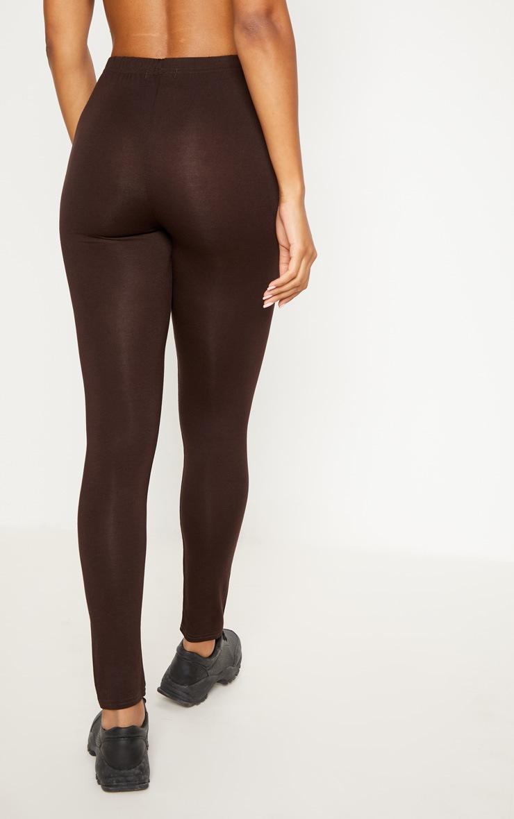 Brown Basic Jersey Legging   4