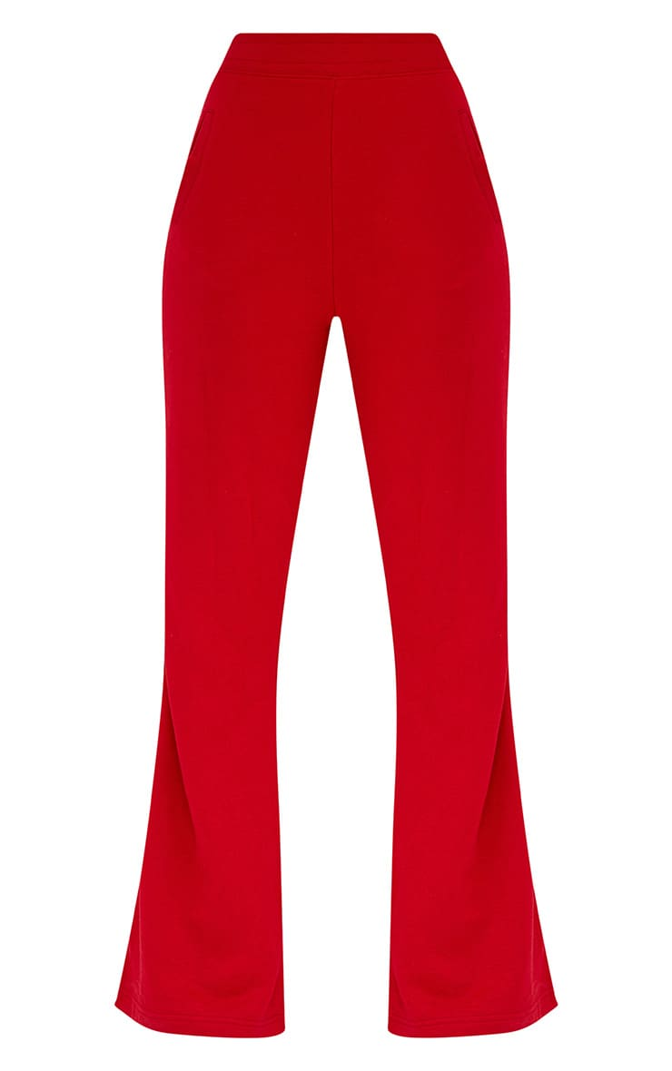 Red Flared Track Pants  3