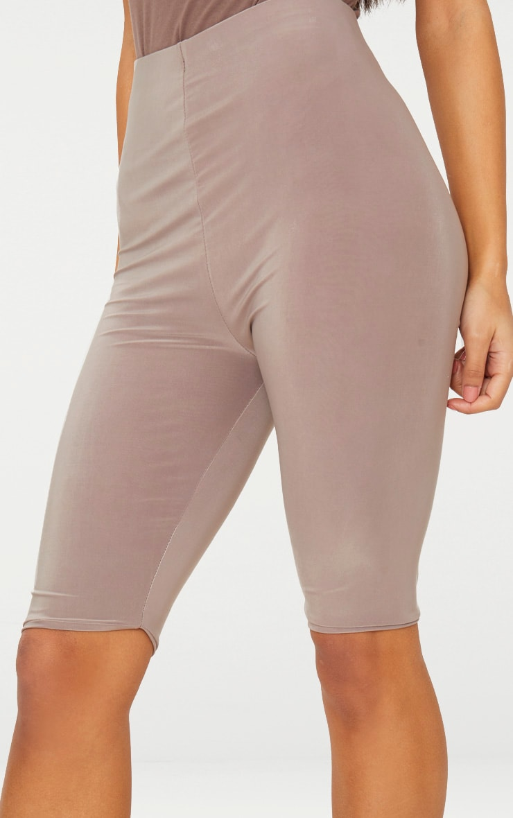 Taupe Slinky Longline Cycle Short  6