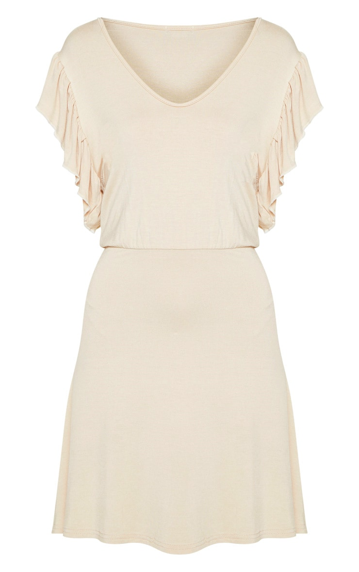 Stone Frill Sleeve Shift Dress 3