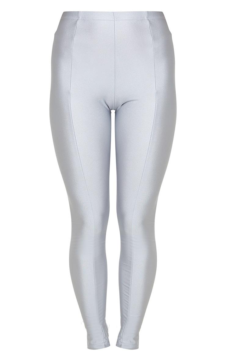 Silver Grey Front Seam Disco Legging 3