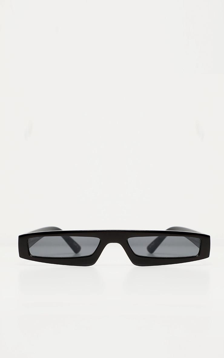 Black Square Squashed Visor Sunglasses 2