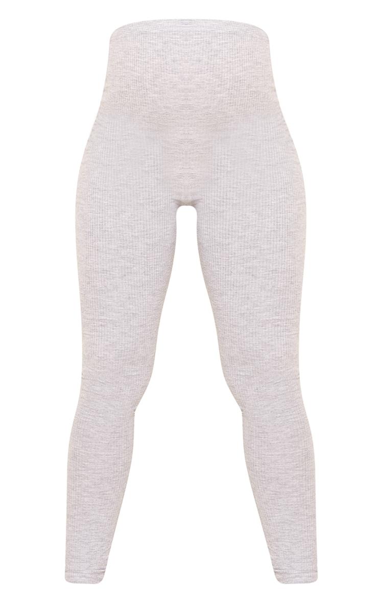 Maternity Grey Brushed Rib Leggings 5