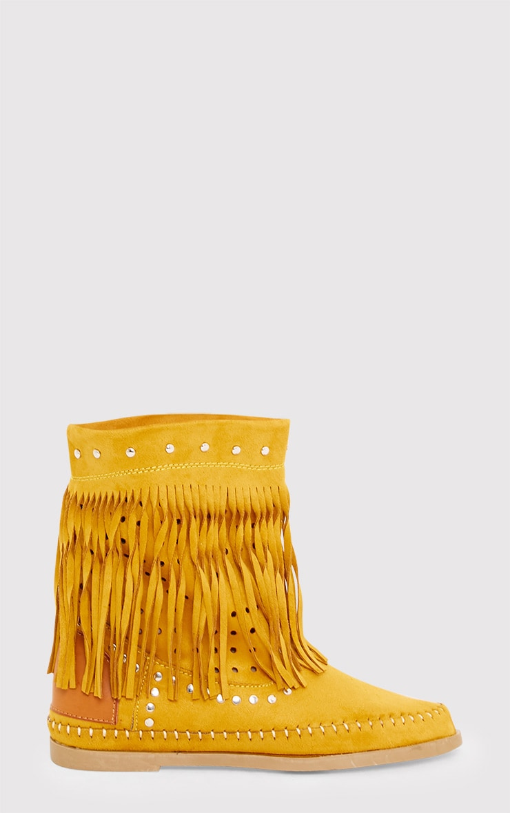 Rosanne Tan Fringed Boots 2