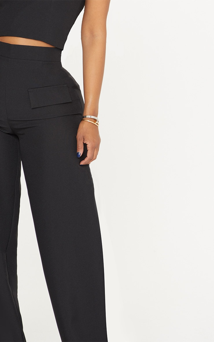 Shape Black Cargo Wide Leg Trouser 5