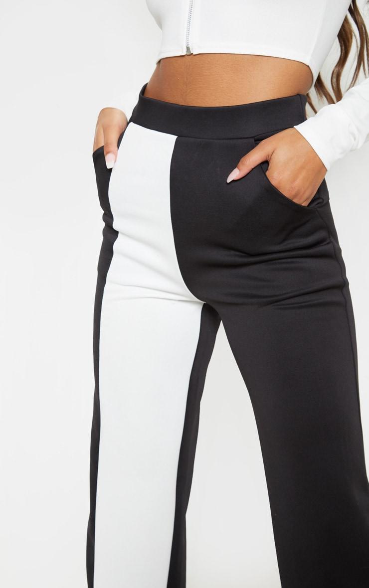 Pantalon ample à parties contrastées blanches en néoprène 5