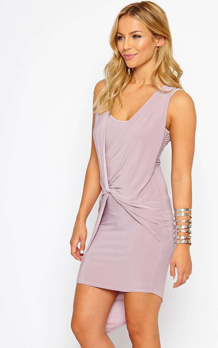Stacie Mauve Knot Detail Dress 4