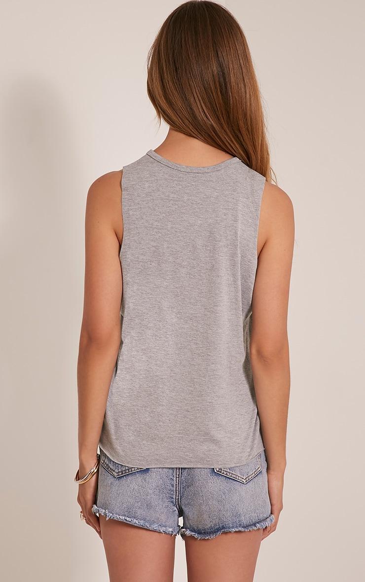 Ember Grey Ripped Drop Armhole T-Shirt 2
