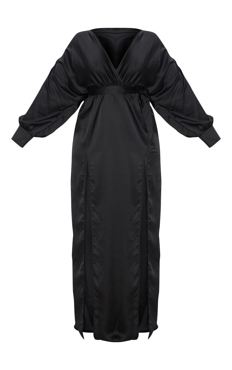 Plus Black Kimono Maxi Dress 2