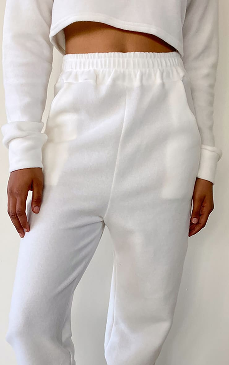 Tall White Brushed Sweat Oversized Sweatpants 3