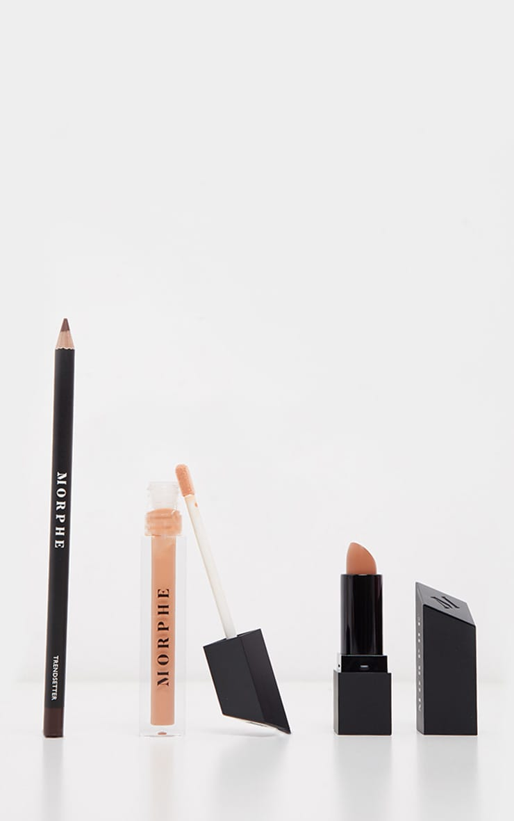 Morphe Out And a Pout Lip Trio Caramel Nude image 1