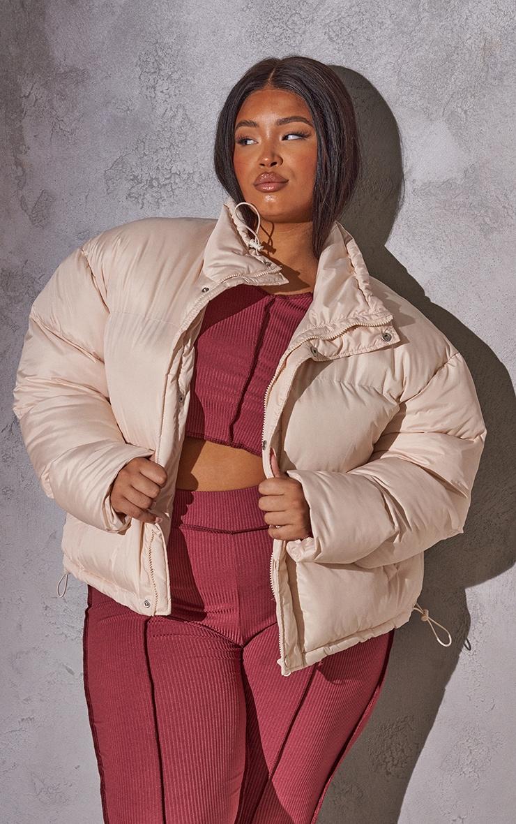 RENEW Plus Cream Toggle Detail Puffer Jacket 1