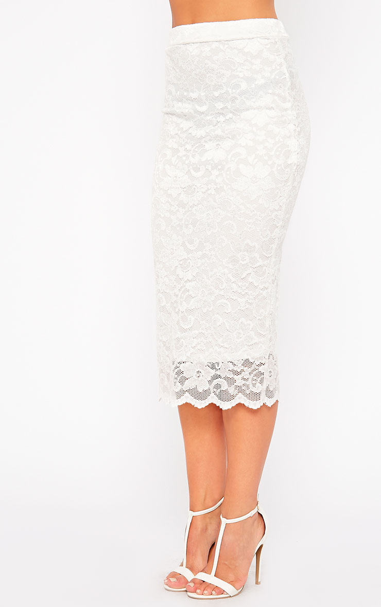 Diona Cream Lace Skirt 3