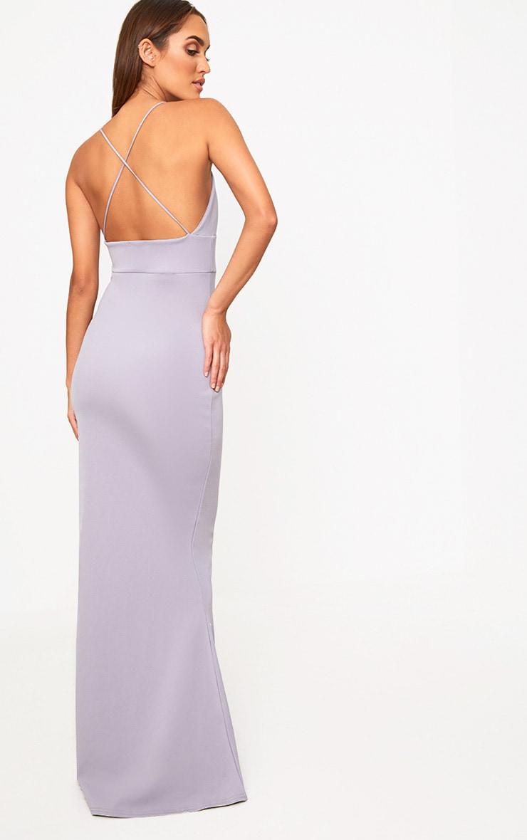 Ice Grey  Strap Detail Strappy Maxi Dress 2